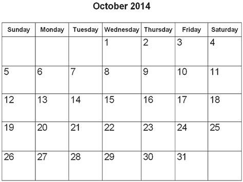 Online Calendar Template 2014