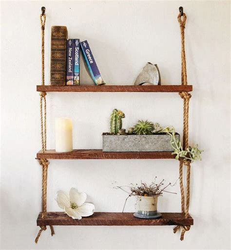 best 25 rope shelves ideas on easy shelves