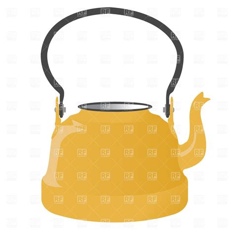 eps clipart retro kettle vector image of objects 169 prague 779 rfclipart