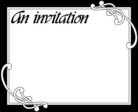 blank printable invitation cards invitation free stock photo illustration of a blank