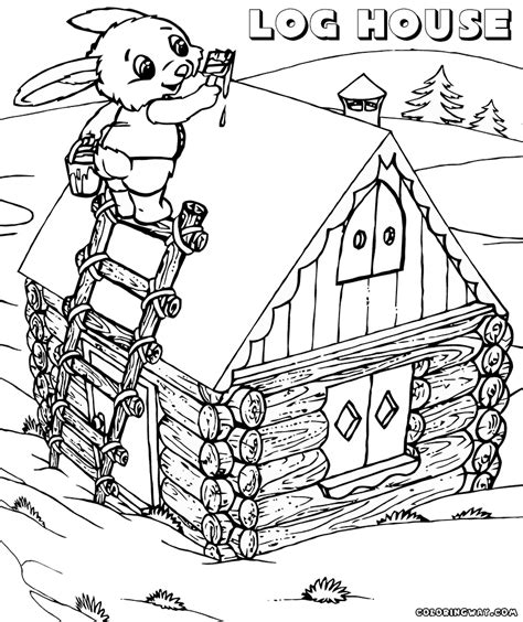 log house coloring page log house coloring pages coloring pages to download and