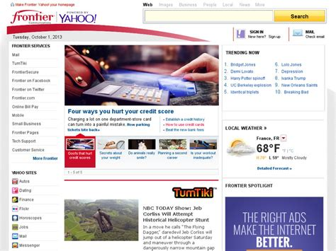 frontier homepage powered by yahoo rachael edwards