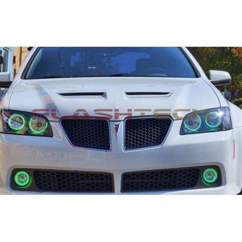 flash tech usa pontiac g8 v 3 fusion color change led halo fog light kit