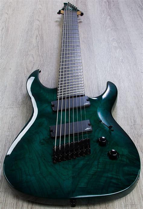 fanned fret 8 string legator r 200 se fanned fret 8 string guitar teal