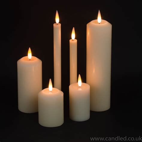 candele a led pillar candle led 4 quot x 2 5 quot diameter candled