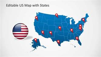 us map powerpoint background us map template for powerpoint with editable states