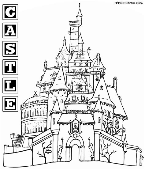 castle coloring pages pdf coloring pages free printable castle coloring pages for
