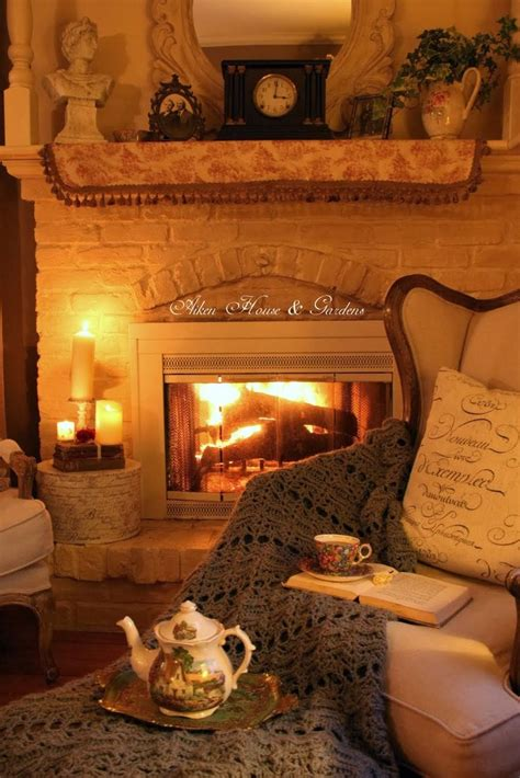 cozy fireplace friday favorites cozy home looks the organized dream