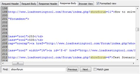 section 90a extracting values from server responses on web load testing