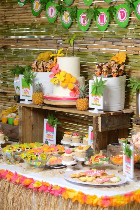 kara s party ideas hawaiian luau themed birthday party
