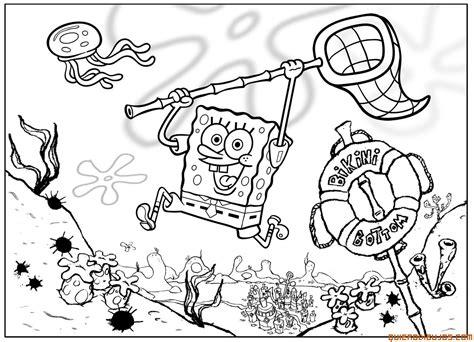 spongebob jellyfish coloring page bob esponja de caza