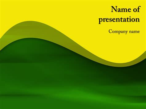 template powerpoint yellow free yellow powerpoint template background for