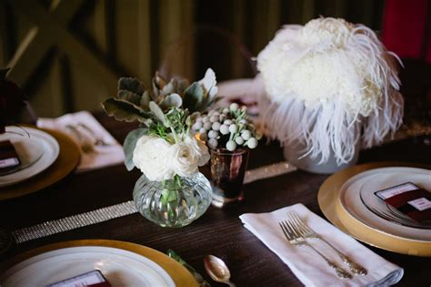 white feather wedding reception centerpiece onewed com