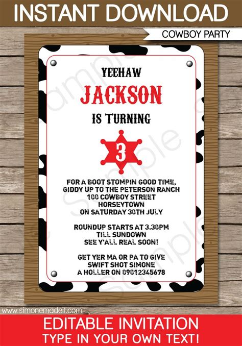 western invitation template best 25 cowboy invitations ideas on