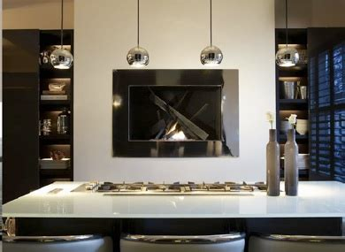Modern Kitchens With Fireplaces by Kitchen Fireplace Contemporary Kitchen Hoppen