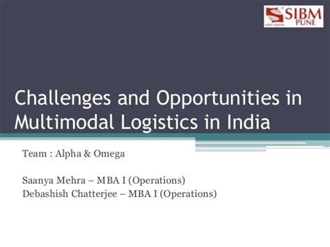 Mba In Transport And Logistics In India by Logiquest Season 2 Challenges And Opportunities In Multi