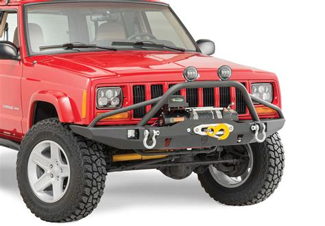 prerunner jeep xj jcr offroad vanguard front winch bumper with prerunner for