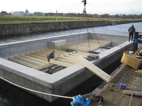 build a house boat houseboat custom designed by dirkmarine build on a concrete hull