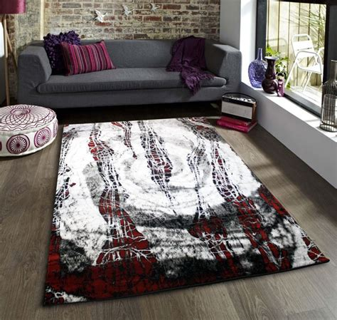 funky rugs ireland black white and funky rug new striking pattern soft touch large room sizes ebay