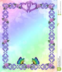 farfalle del bordo dell invito di cerimonia nuziale