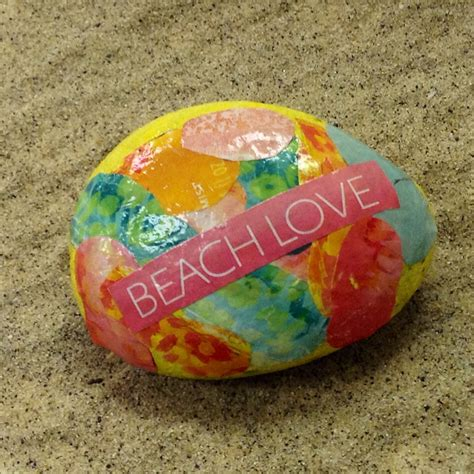 Decoupage Rocks - decoupage rock family crafts