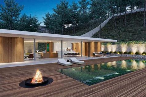 feuerstelle holzterrasse wundersch 246 ne minimalistische neubauvilla in vida kaufen