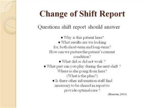 Handover Wmv Youtube End Of Shift Nursing Report Template
