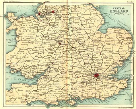 map of central uk uk central walker bartholomew 1896 map