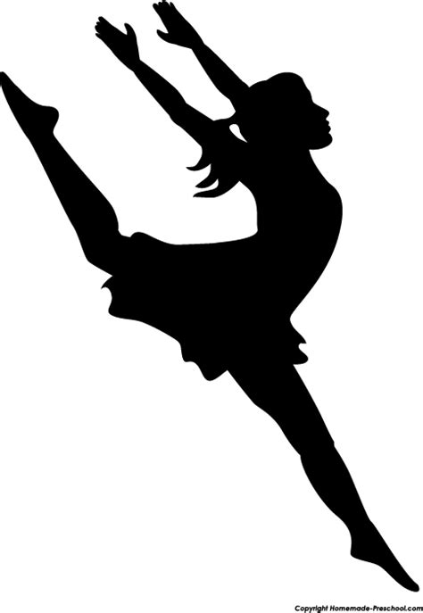 Dancing woman clipart silhouettes clipartfest