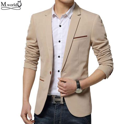 Blazer Jaket Sintetis Casual aliexpress buy mwxsd brand mens slim fit blazer jacket casual blazer suit big size