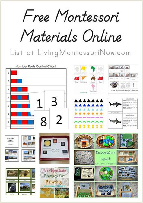 Free Montessori Materials Online | hhm s featured posts the hip homeschool hop 9 2 14