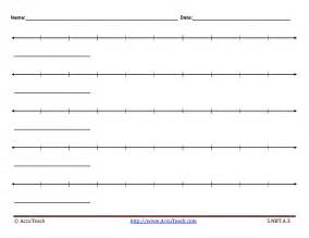Number Line Template by Rounding Decimals Using Vertical Number Line Worksheet