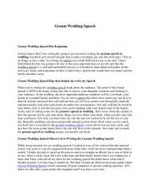 Outline Of And Groom Speech groom wedding speech