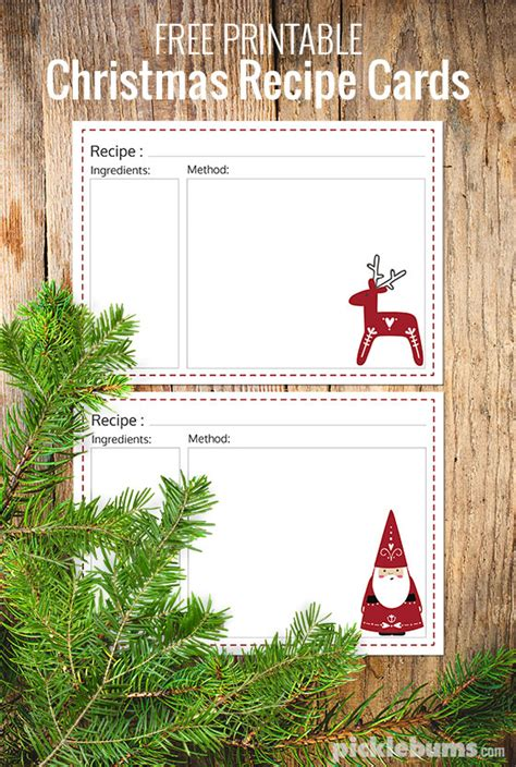 ten delicious food gifts free printable recipe cards