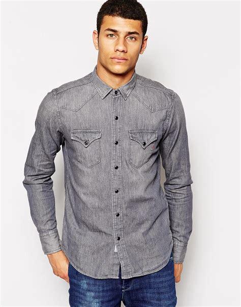 light denim shirt mens 10 men s long sleeve denim shirts for summer the jeans blog