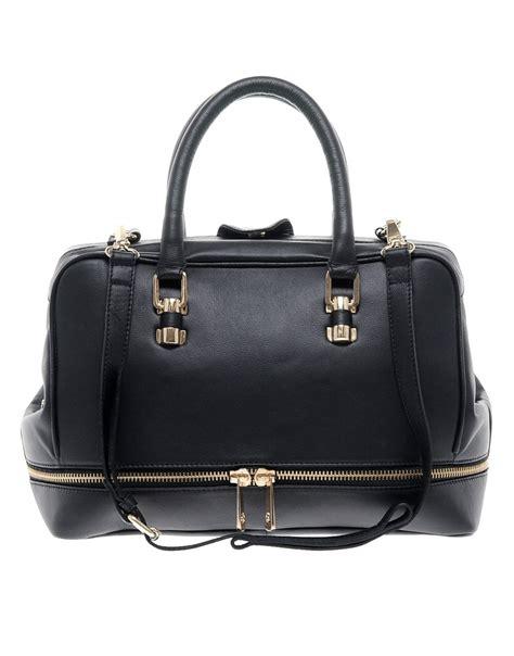 asos asos leather doctors bag at asos