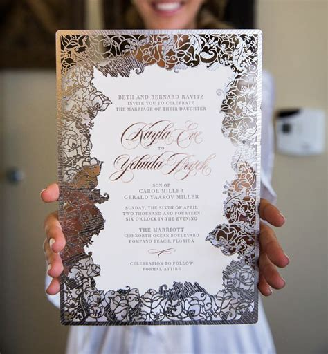 most luxurious laser cut wedding invitation cards for trendy mods