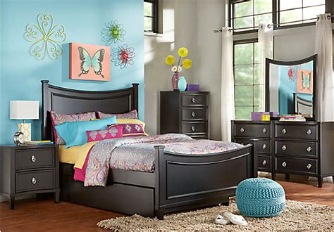 teen full bedroom sets jaclyn place black 5 pc full bedroom bedroom sets black