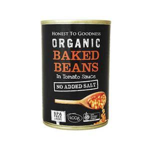 honest  goodness baked beans  tomato sauce