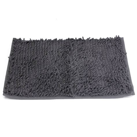 non slip rugs uk washable bathroom new shaggy rugs non slip bath mat thick 40x60cm gray j1u2 ebay