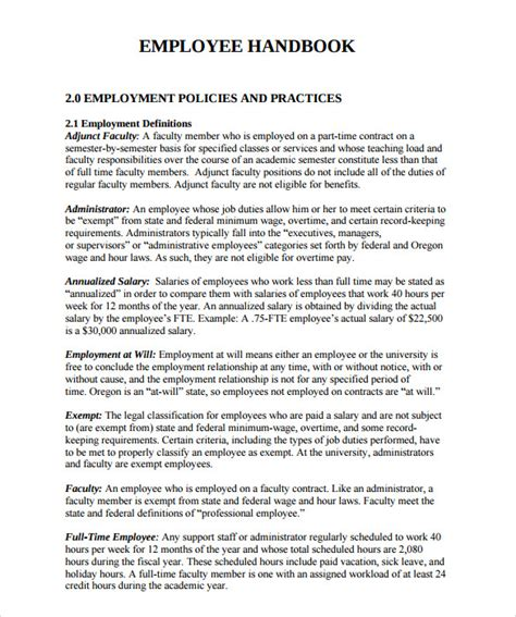 Employee Handbook Template Microsoft Word Templates Resume Exles Xla7krnaej Employee Handbook Template California