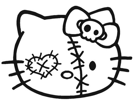 zombie head coloring page hello kitty halloween coloring page az coloring pages