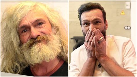 haircuts homeless homeless man stunned by free haircut after 25 years on the