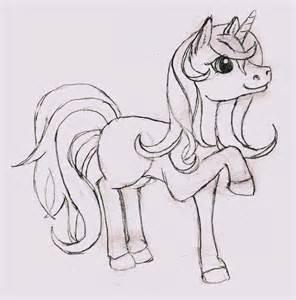 unicorn sketch by rainbowhashmash on deviantart