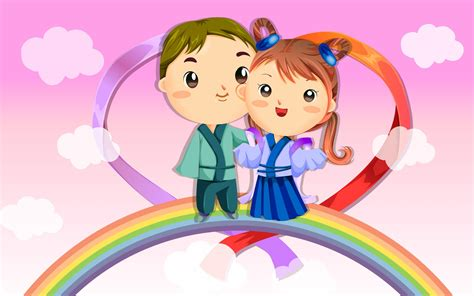 wallpaper cartoon boy romantic cartoons hd wallpaper
