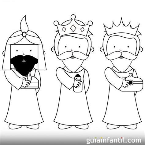 imagenes de reyes magos animados para colorear dibujo sencillo de los reyes magos para pintar dibujos