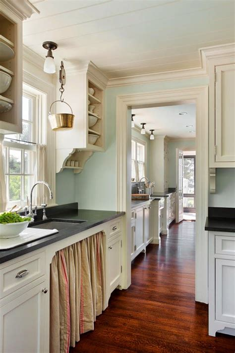 benjamin ivory white kitchen cabinets ahearn architecture skirted sink cottage kitchens