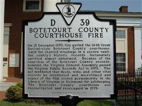 Botetourt County Court Records Botetourt County Courthouse Virginia Historical Markers On Waymarking