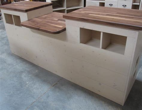 Business Countertops by Custom Rustic Wood Wrap Sales Counter Cubbies Ada