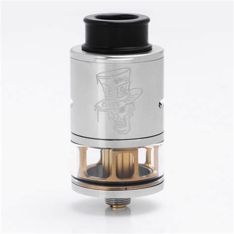 Mad Hatter 24 Rdta Atomizer Black Authentic authentic advken mad hatter rdta silver 3 5ml 24mm atomizer